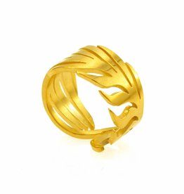Rebels & Icons Ring palm leaf