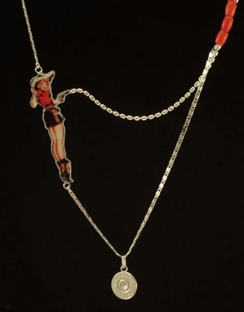 Rebels & Icons Multiple necklace cowgirl pinup - silver