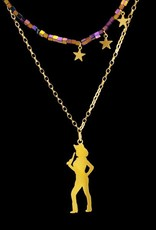 Rebels & Icons Ketting cowgirl - goud