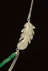 Rebels & Icons Necklace feather - silver