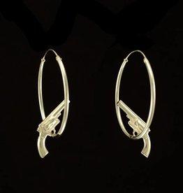 Hoop earrings gun