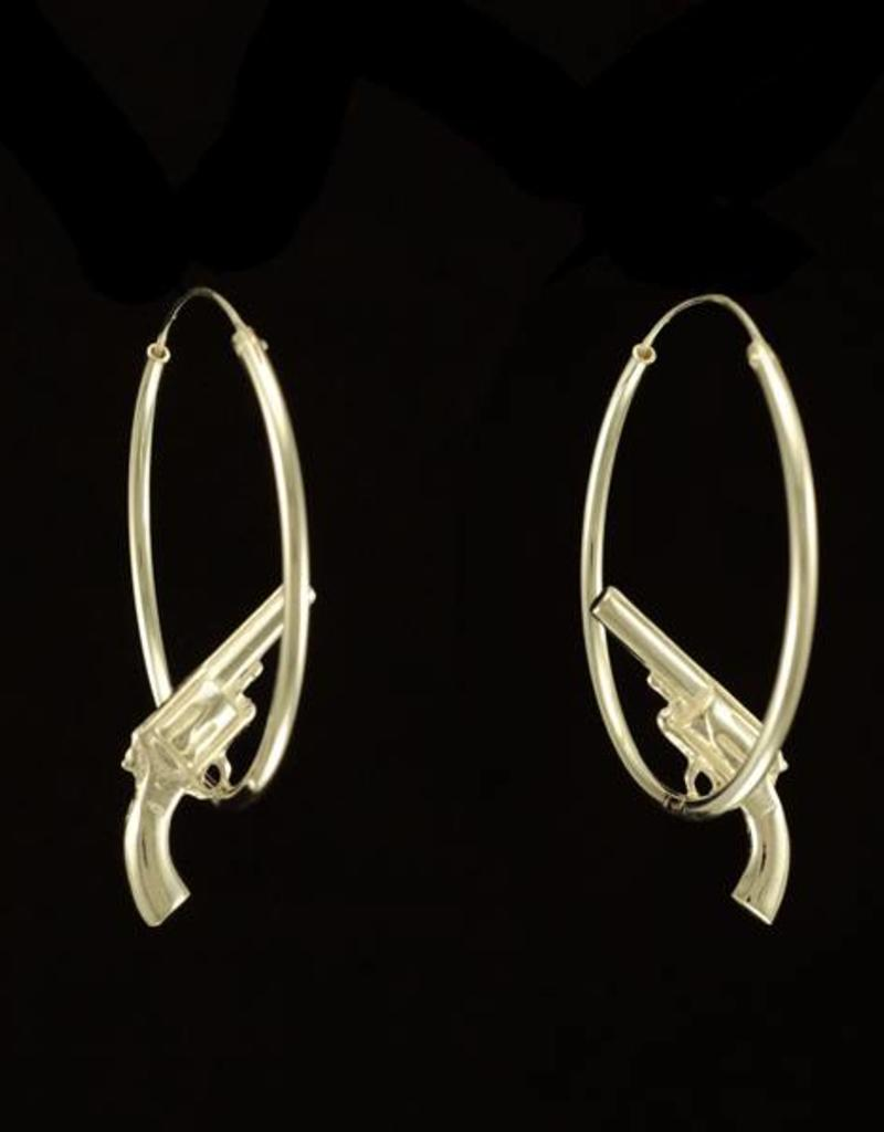 Rebels & Icons Hoop earrings gun