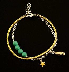 Armband druppel en ster