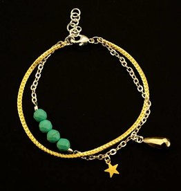 Bracelet drop & star
