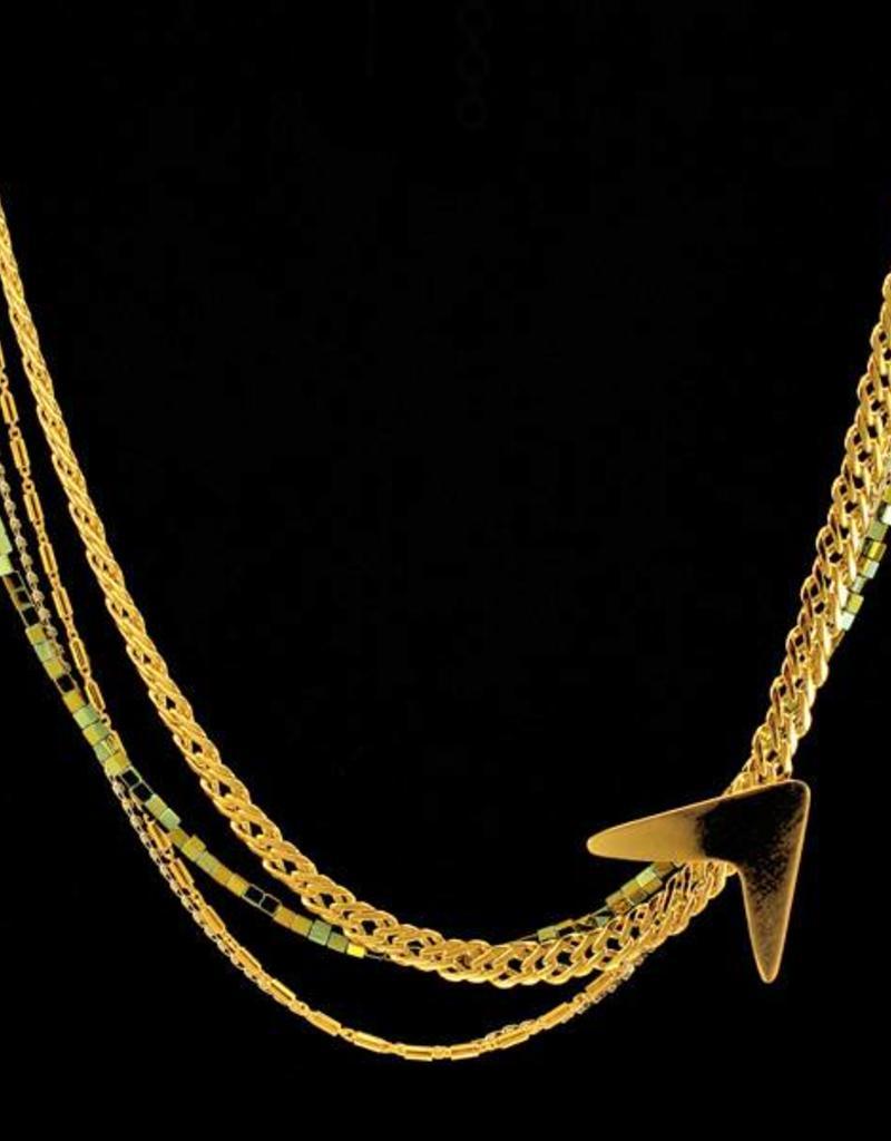 Rebels & Icons Short necklace boomerang - mixed
