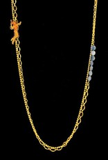 Rebels & Icons Long necklace space girl - gold