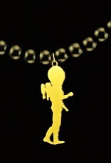 Rebels & Icons Bead necklace astronaut & rocket - gold