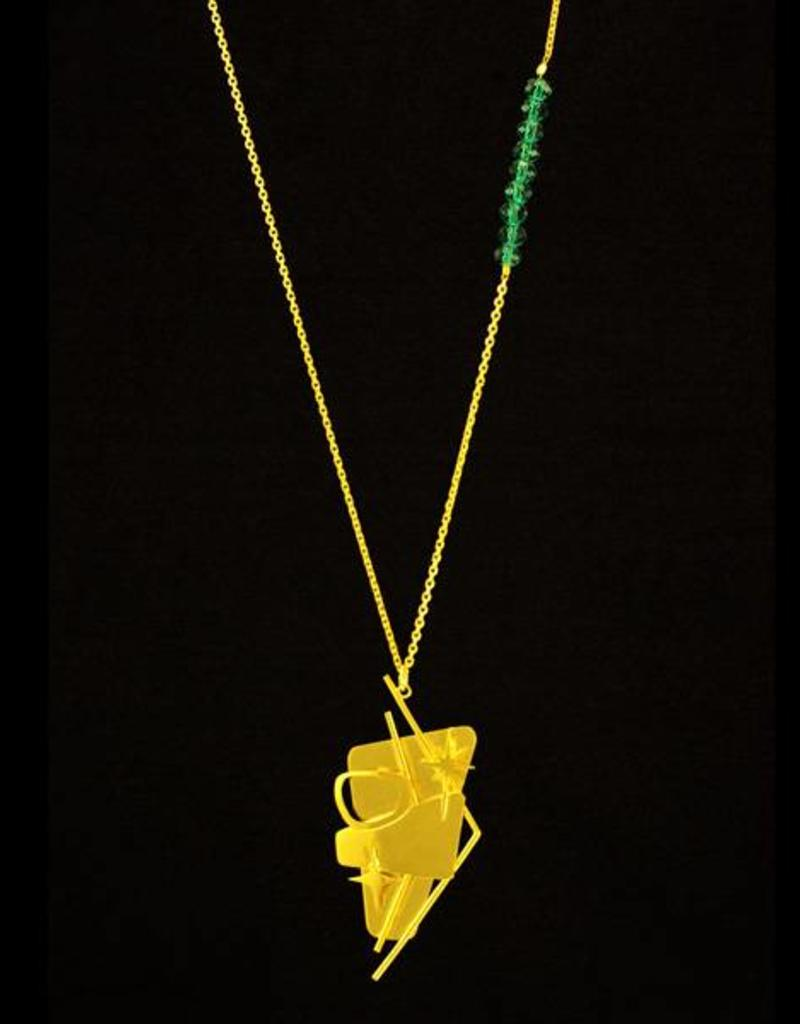 Rebels & Icons Ketting billboard - goud