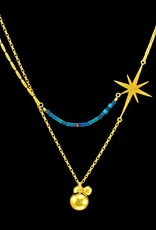 Rebels & Icons Necklace star & balls  - silver