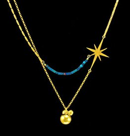 Rebels & Icons Necklace star & balls