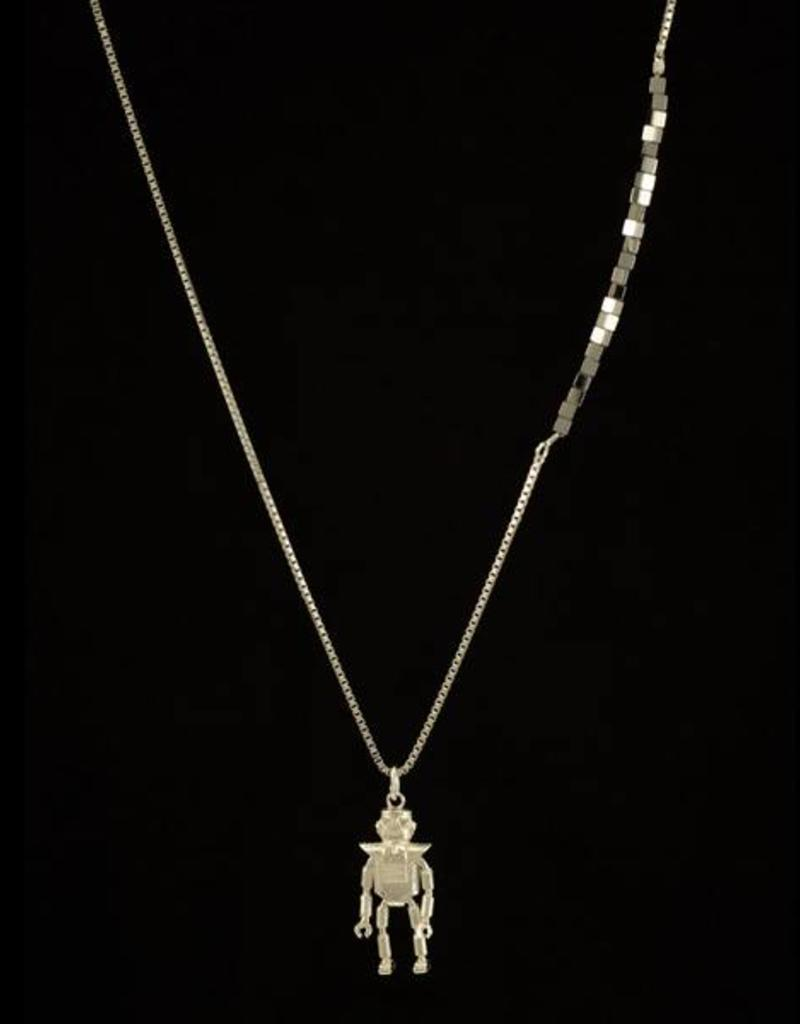 Rebels & Icons Necklace robot - silver
