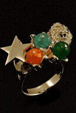 Rebels & Icons Ring lion and star - silver