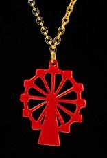 Ketting reuzenrad - goud met rood