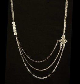 Triple necklace pierrot
