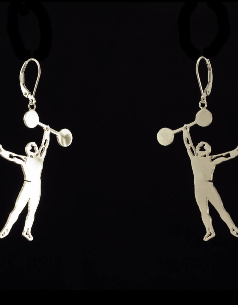 Rebels & Icons Earrings strong man - silver