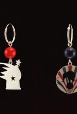 Rebels & Icons Hoop earrings cannon - silver
