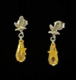 Post earrings eagle and drop