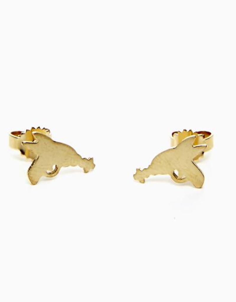Rebels & Icons Post earrings ray gun - gold