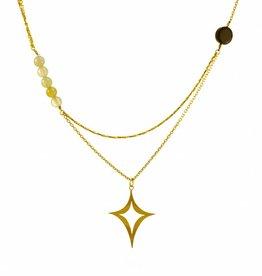 Multiple necklace diamond shape