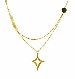 Rebels & Icons Multiple necklace diamond shape