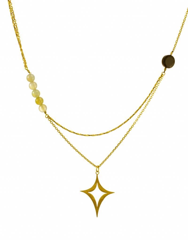 Rebels & Icons Multiple necklace diamond shape
