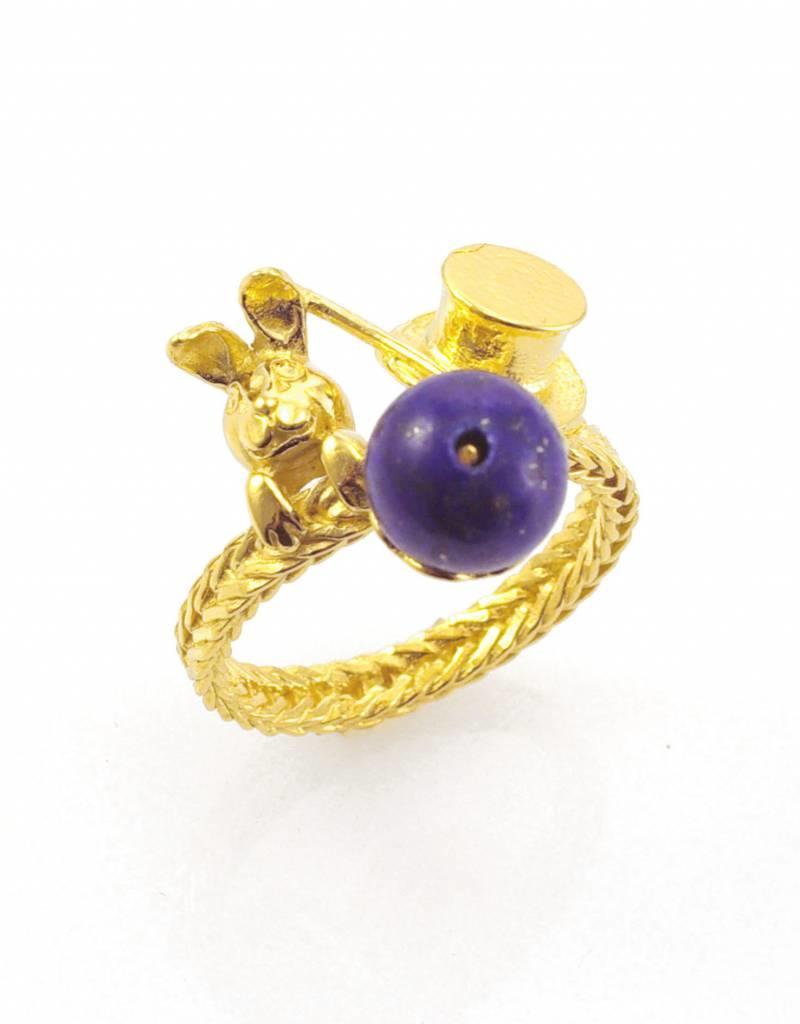 Rebels & Icons Ring konijn uit hoed - goud
