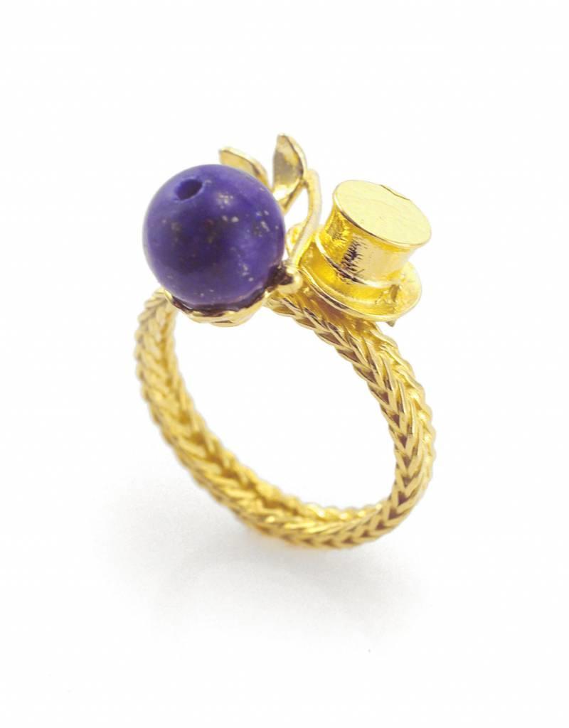 Ring konijn uit hoed - goud