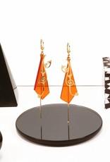 oorbellen zweepslag & driehoek