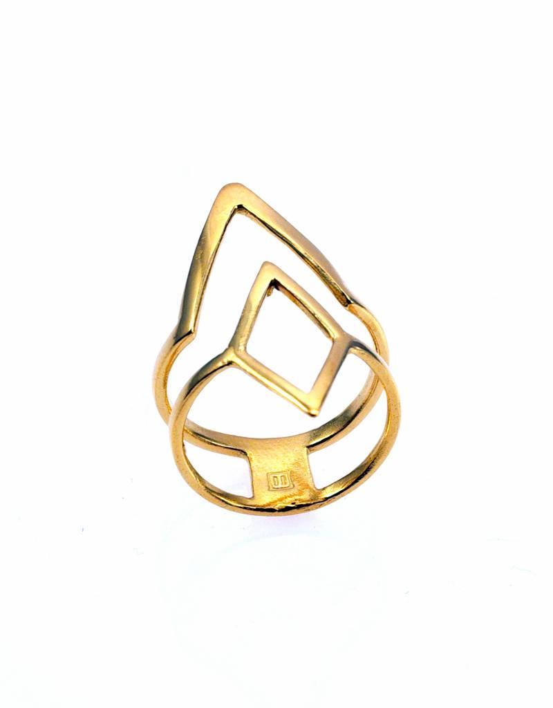 Ring ruit & V-vorm - goud
