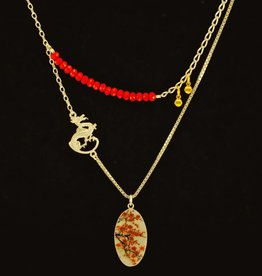 Necklace cherry blossoms
