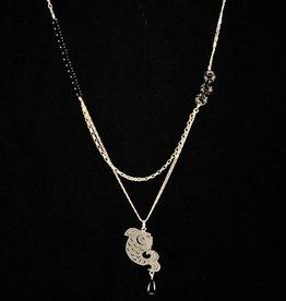 Necklace koi outline
