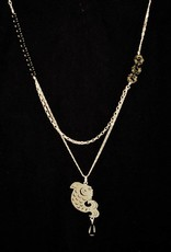 Rebels & Icons Necklace koi outline