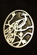Rebels & Icons Ring met pauw silhouet