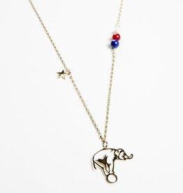 Necklace elephant outline