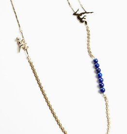 Long necklace trapeze