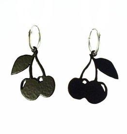 Hoop earrings cherries