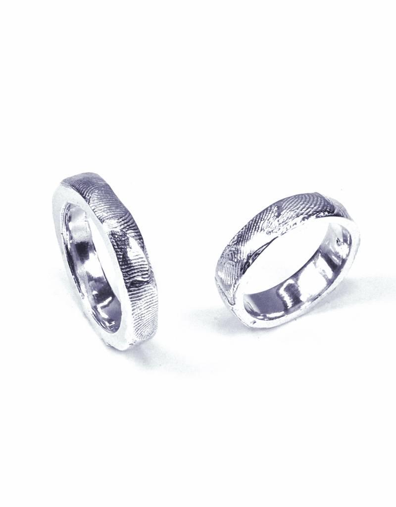 Wedding ring 'fingerprints'