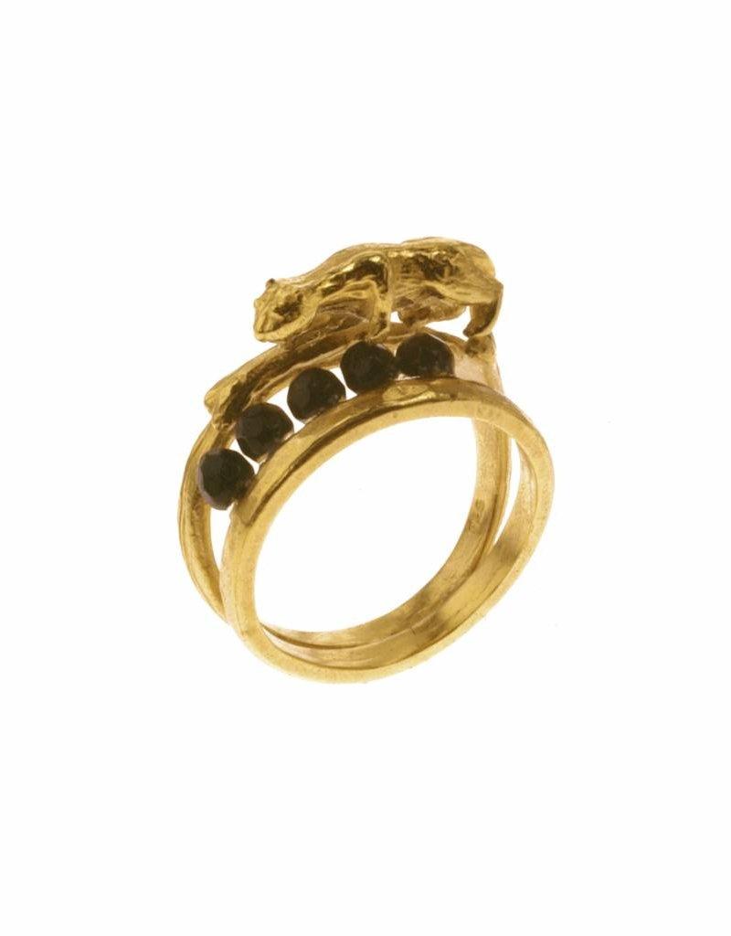 Ring tijger - goud