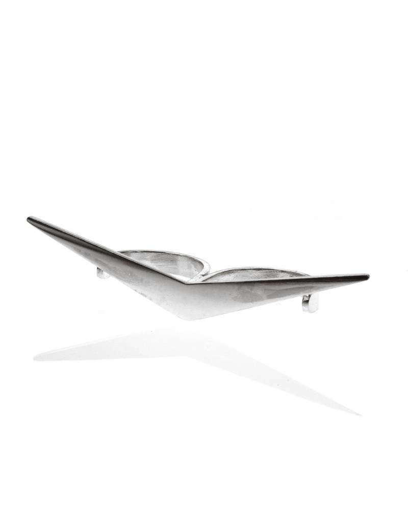 Rebels & Icons Double ring boomerang - silver