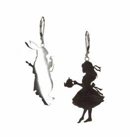 Oorbellen Alice & konijn