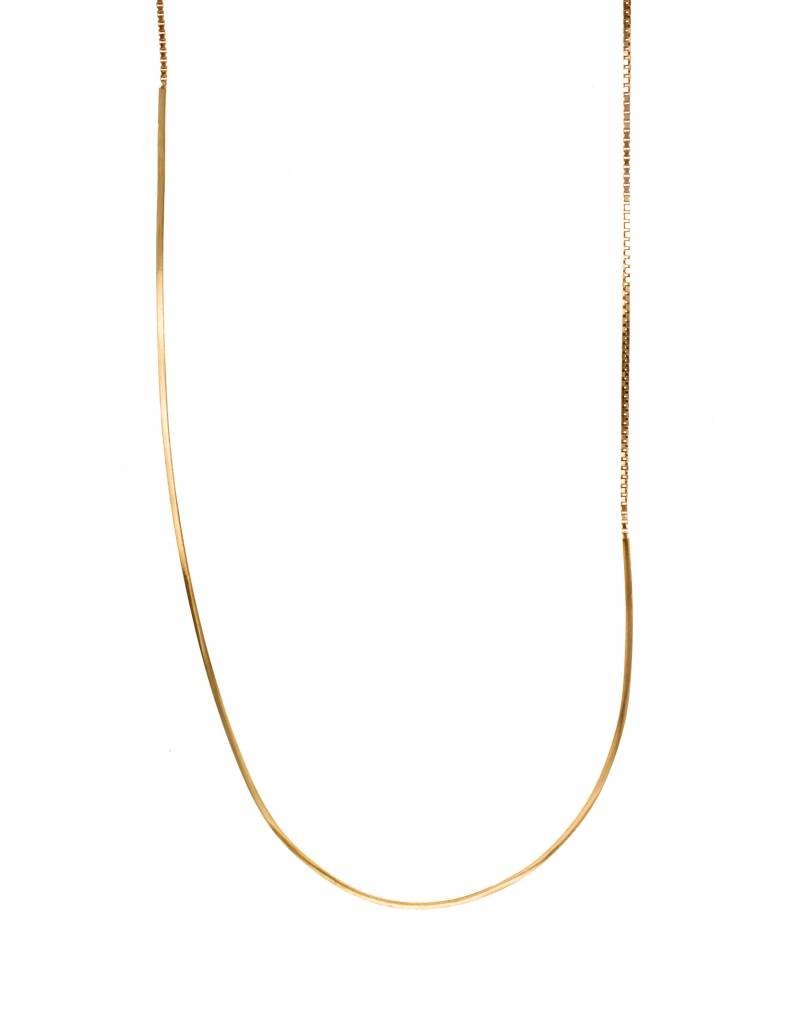 Rebels & Icons Long necklace box chain & bar