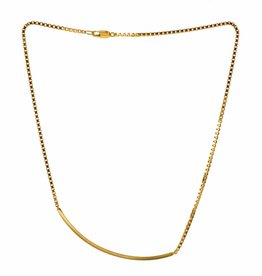 Rebels & Icons Short necklace box chain & bar