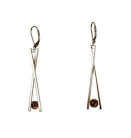 Rebels & Icons Earrings Chopsticks & stone