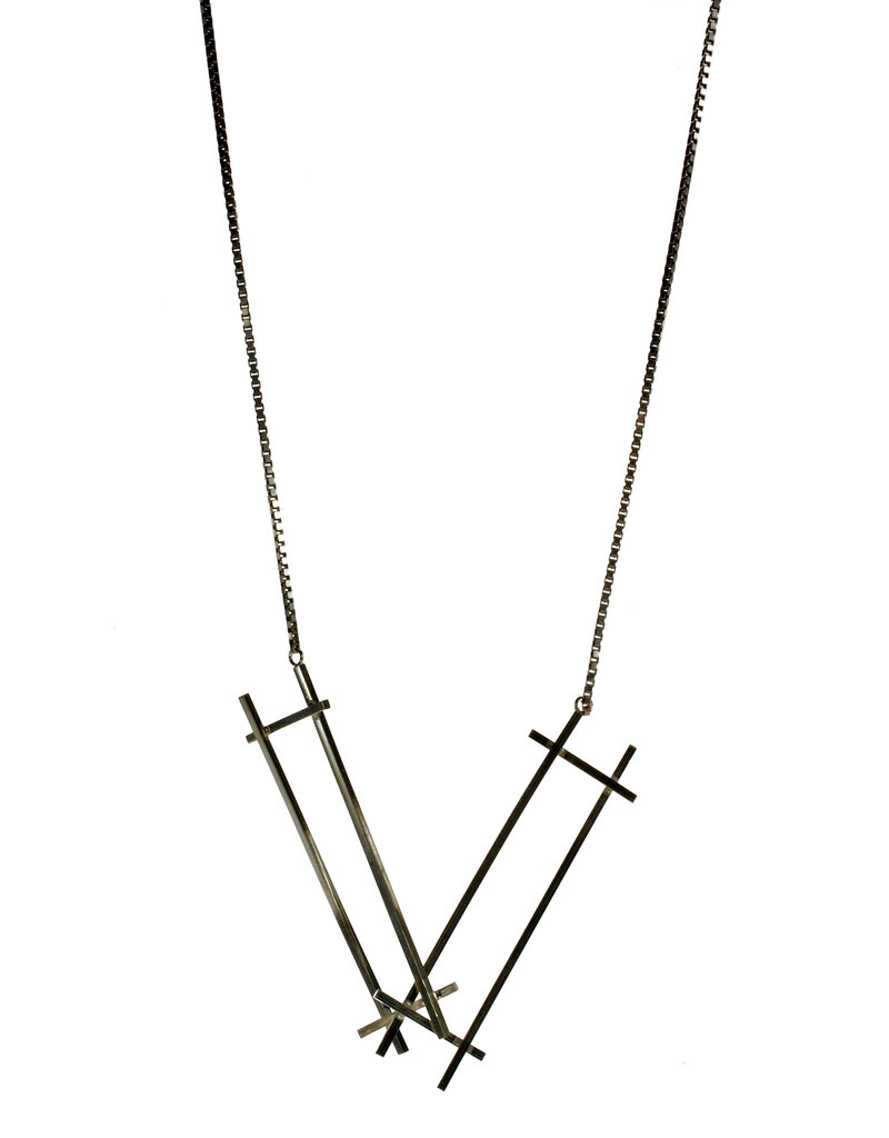Rebels & Icons Necklace rectangles