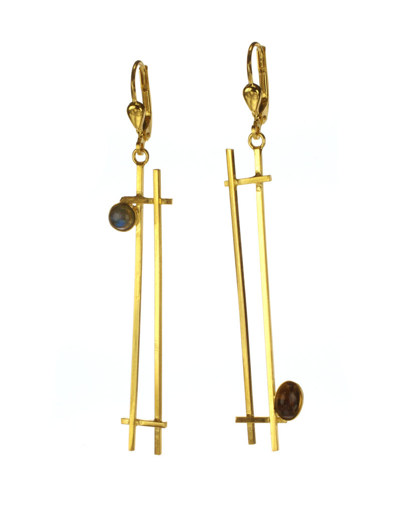 Rebels & Icons Earrings rectangles & stone