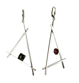 Rebels & Icons Earrings triangles & stones