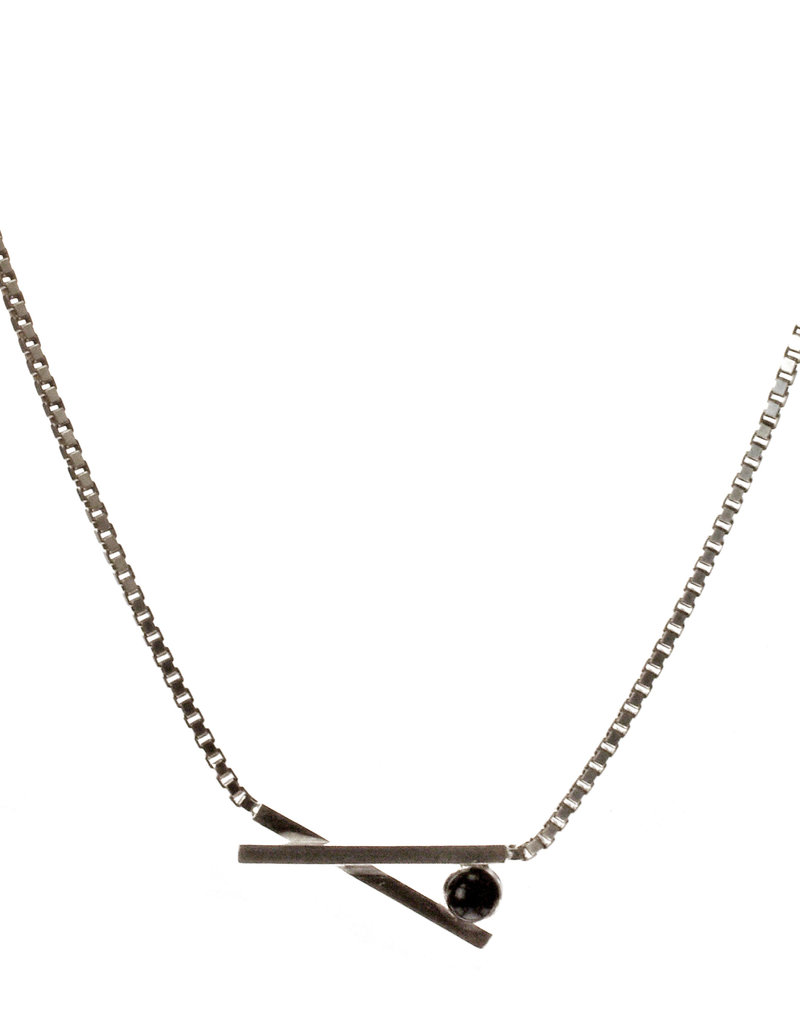 Rebels & Icons Necklace chopsticks & stone