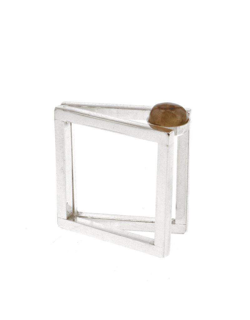 Rebels & Icons Ring 2 vierkanten & steen
