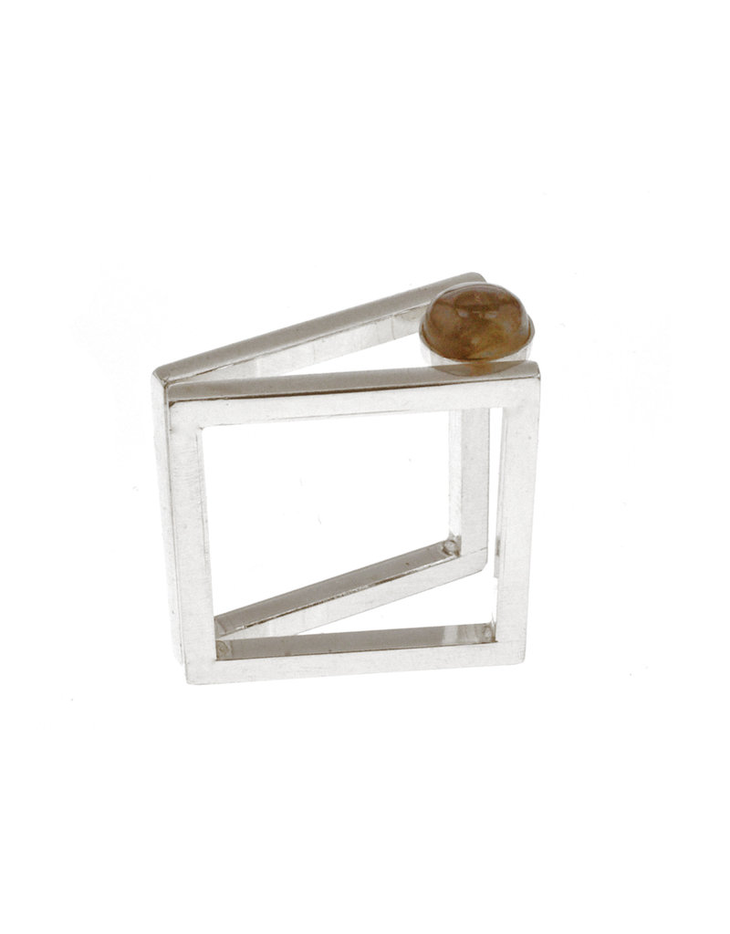 Rebels & Icons Ring  2 squares & stone