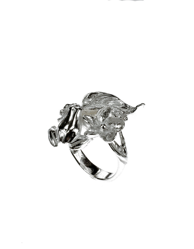 Rebels & Icons Ring kikker & blad - zilver